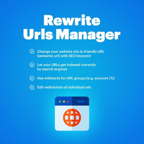 Rewrite Urls Manager for OpenCart (v. 1.5-3.X)