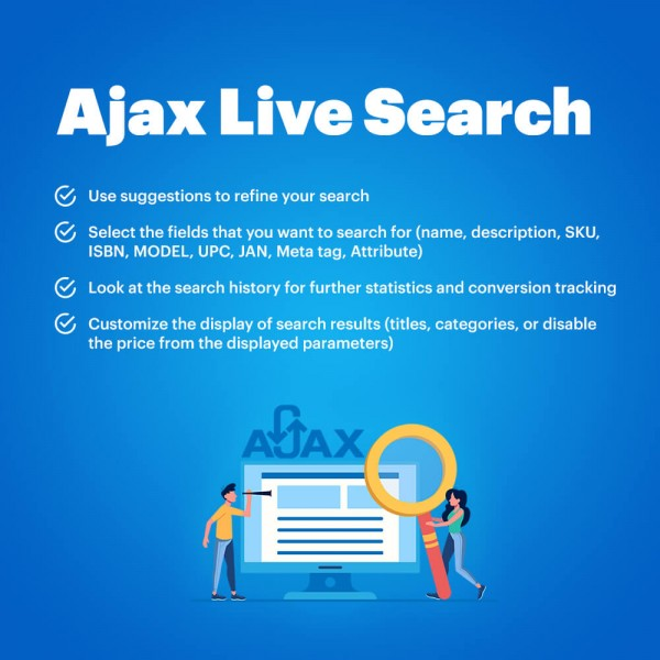 Ajax Live Search Opencart - Smart, Instant, Responsive, Auto-Complete, Suggestion Search