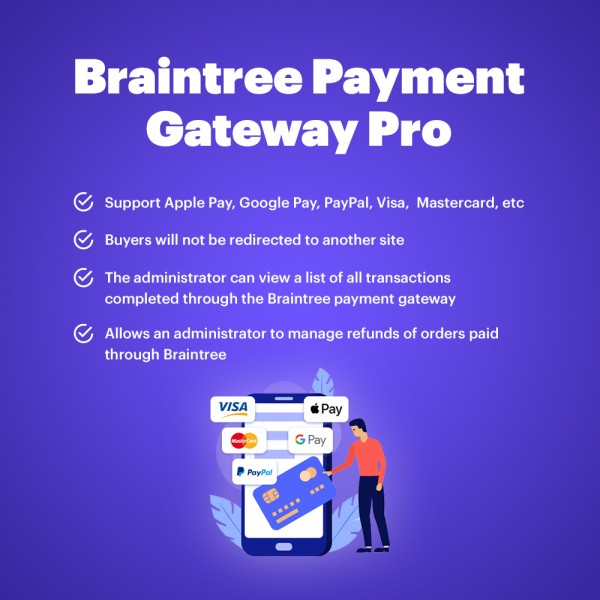 BrainTree Payment Gateway for PrestaShop (Apple Pay, Google Pay, PayPal)