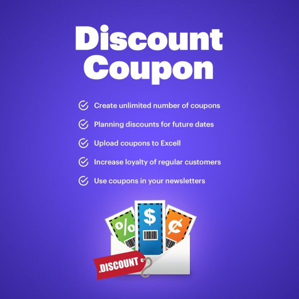 Discount Coupon Generator for PrestaShop (v. 1.6-1.7)