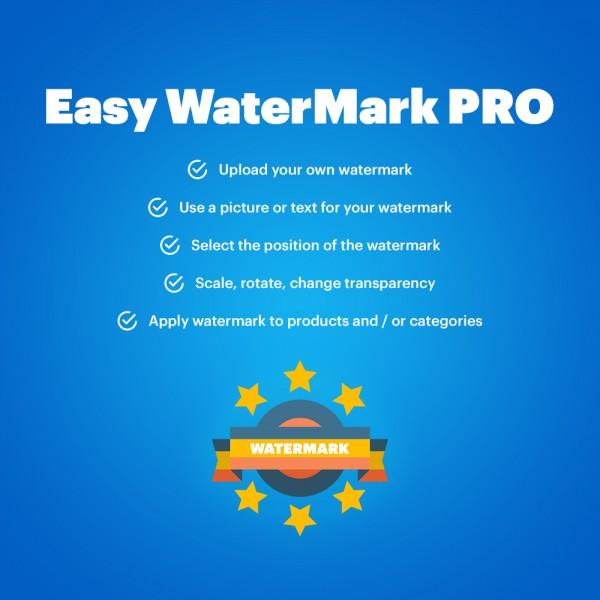 Easy WaterMark PRO for OpenCart (v. 1.5*-3.*)