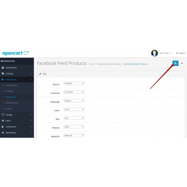 Facebook + Instagram Feed Opencart (for Opencart versions 1.5* 2.0* 2.1* 2.3* 3.0*)