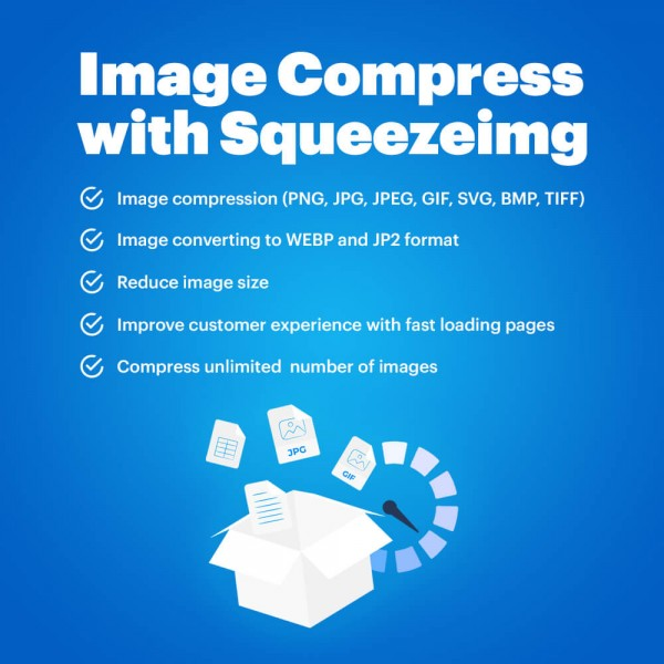 Image Compress with Squeezeimg for OpenCart  (v. 1.5*-3.*)