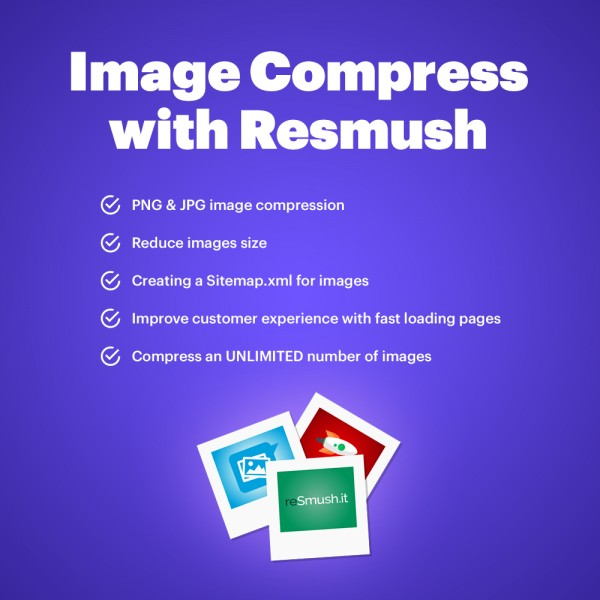 Image Compress with reSmush for PrestaShop 1.6-1.7