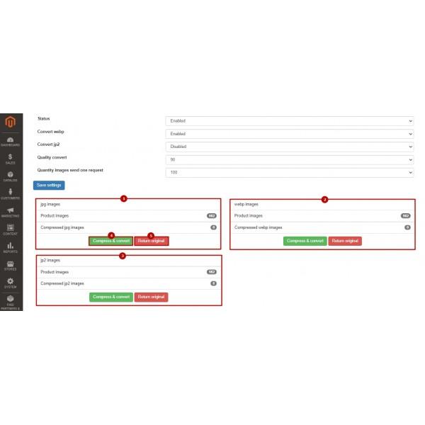 Images Convert: webp, jp2, lazy load, png & jpg compress for Magento