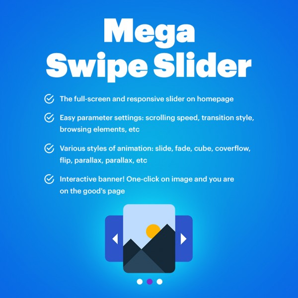 Mega Swipe Slider for OpenCart V. 1.5-3.*