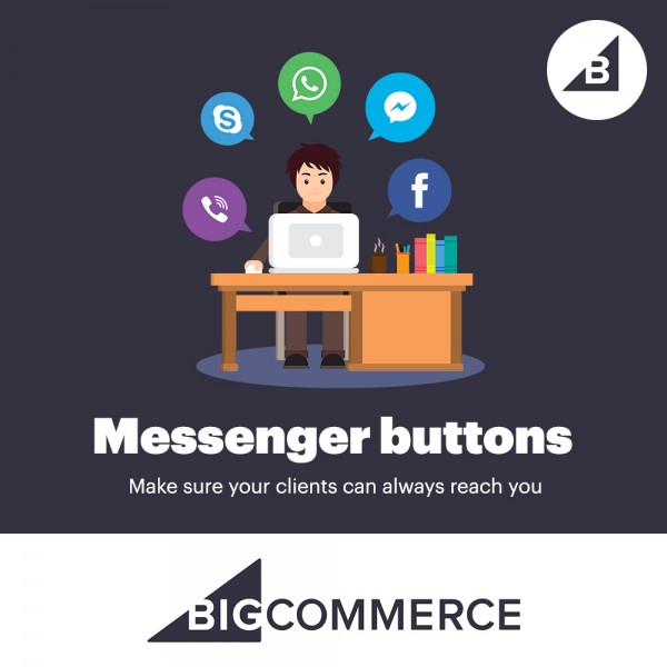 Messengers Buttons BigCommerce