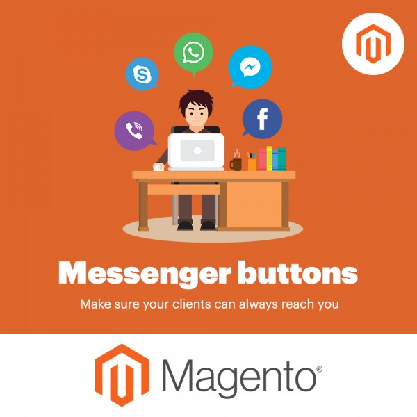 Messengers Buttons Magento (for Magento versions 1.9* 2.2*)
