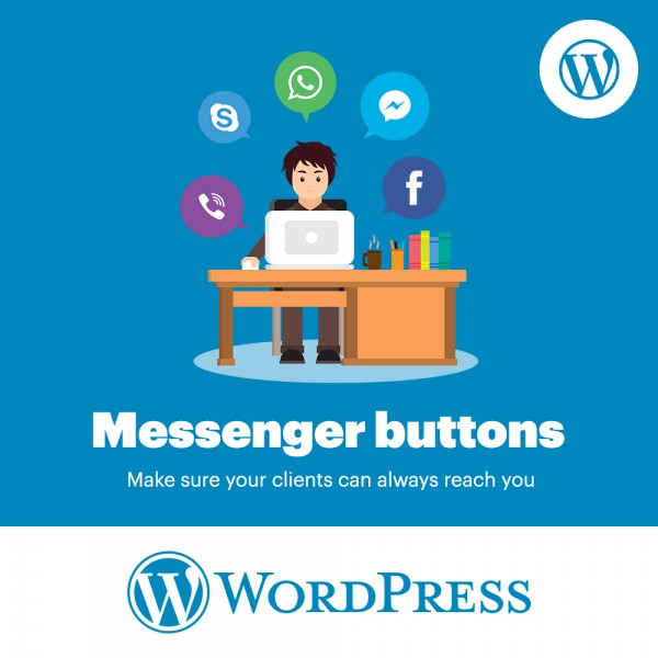 Messengers Buttons WordPress