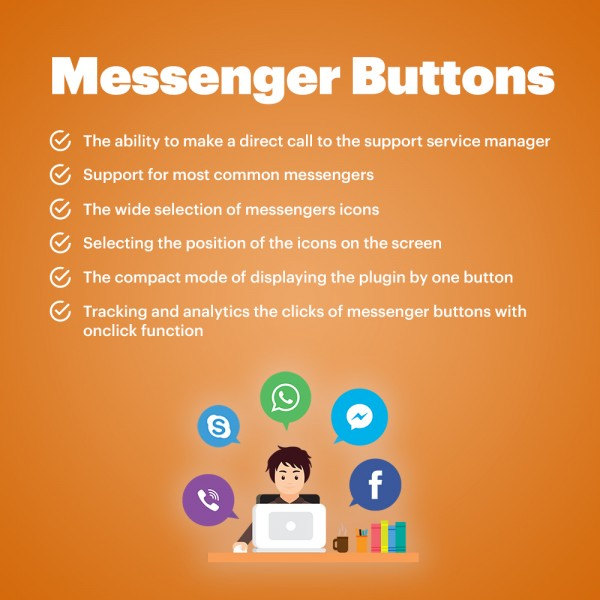 Messengers Buttons Zen-cart