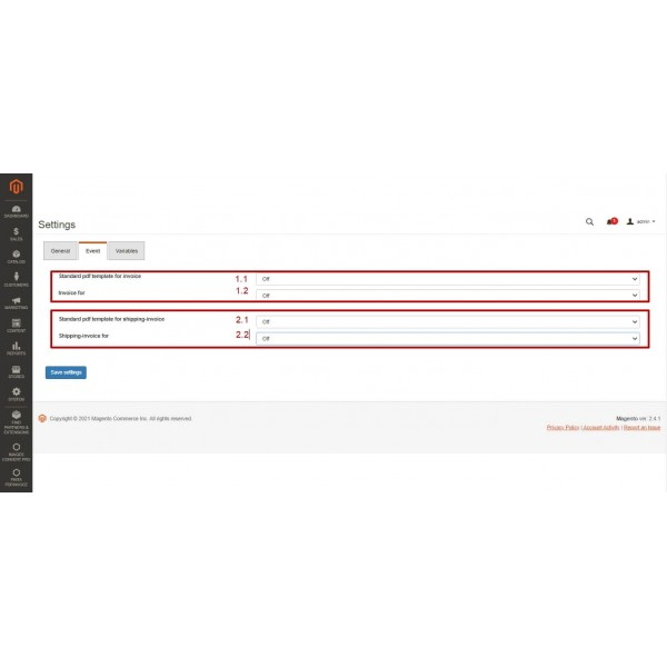 PDF Invoice to Order - Attach to Email for Magento (v. 2.3-2.4)