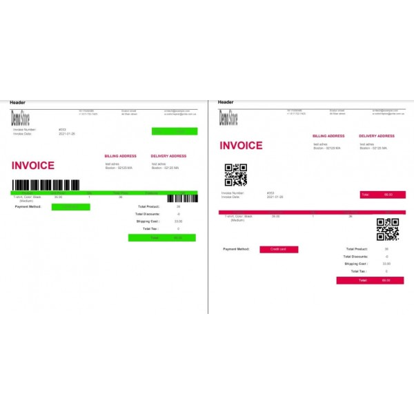 PDF Invoice to Order - Attach to Email for OpenCart (v. 1.5*-3.*)