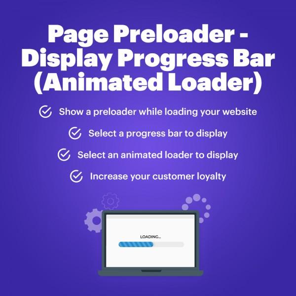 Page Preloader - Display Progress Bar (Animated Loader)  for PrestaShop v. 1.6-1.7*