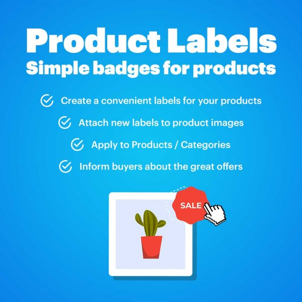 Product Labels - Simple badges for products (CS-Cart)