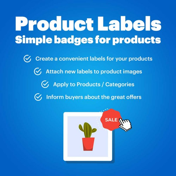 Product Labels - Simple badges for products (OpenCart v. 2.*-3.*)