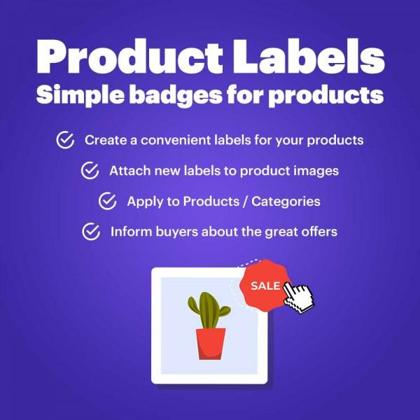 Product Labels - Simple badges for products (PrestaShop v. 1.6-1.7*)
