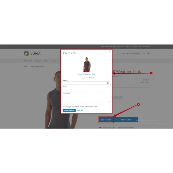 Quick Order Form - Easy Buy in one click for Magento (v. 2.3-2.4*)