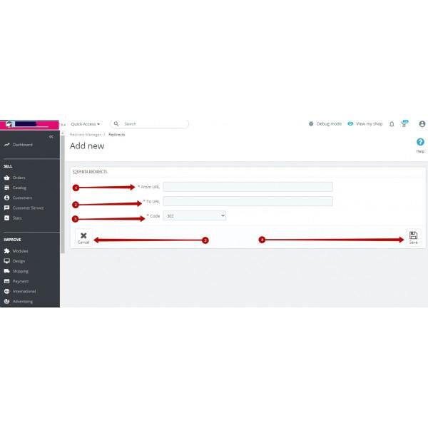 Redirect URLs Manager - 301, 302, 307 and 404 SEO optimizer for PrestaShop