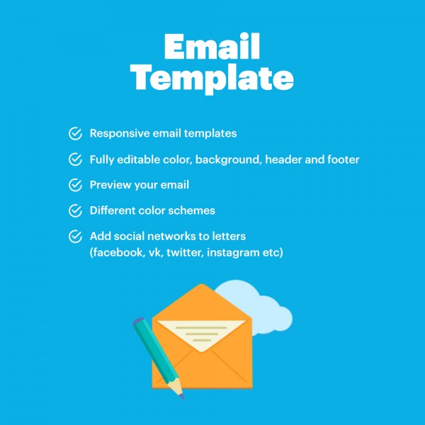 Responsive Pretty Emails OPENCART (for Opencart versions 1.5* 2.0* 2.1* 2.3* 3.0*)