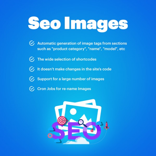 SEO Images Generator - Alt, Title, File Name for OpenCart 1.5-3.*
