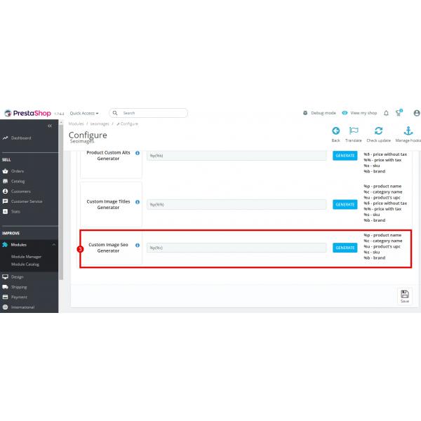 SEO Images Generator - Alt, Title, File Name for PrestaShop