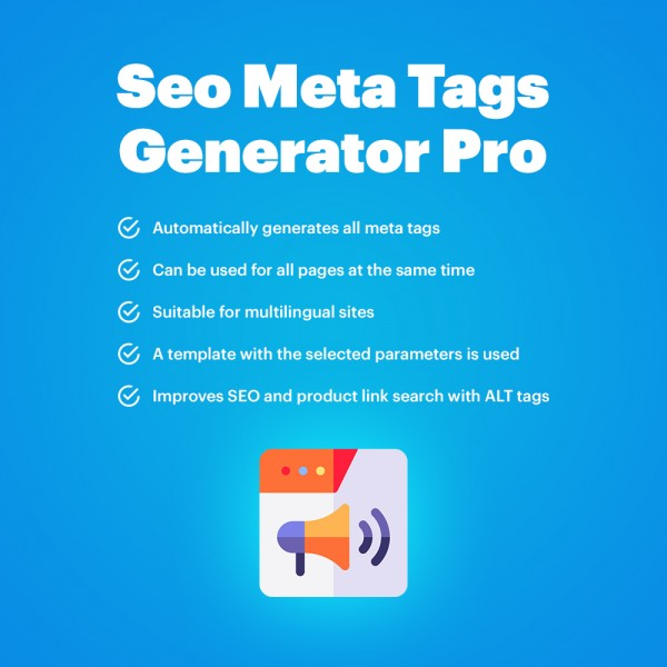 SEO Meta Tags Generator Pro for CS-Cart