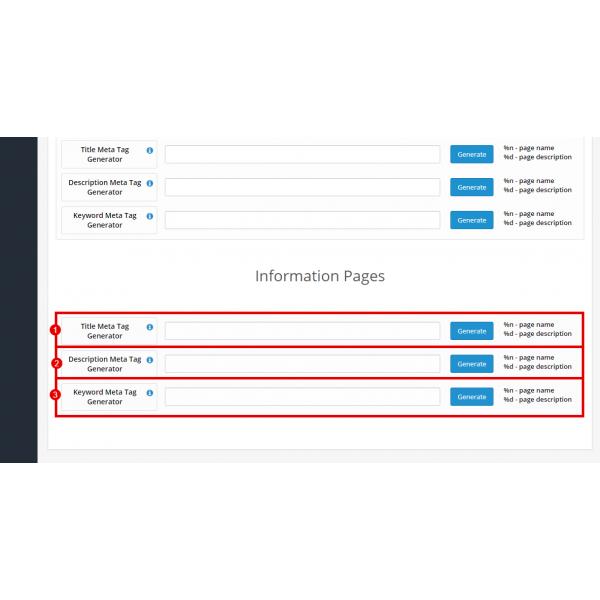 SEO Meta Tags Generator Pro for OpenCart 1.5-3.x