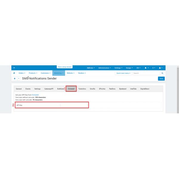 SMS Notifications Sender for CS-Cart
