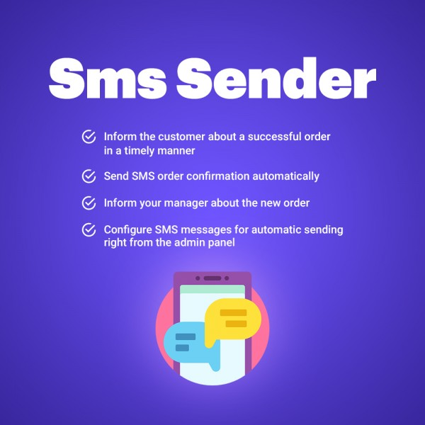 SMS Notifications Sender for Prestashop