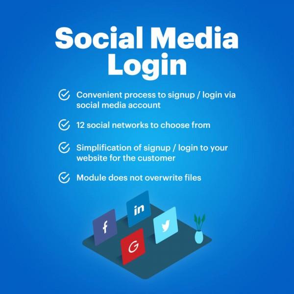 Social Media Login (Google/ Facebook/ LinkedIn/ Twitter/ Yahoo/ etc.) for OpenCart v. 2.*-3.*