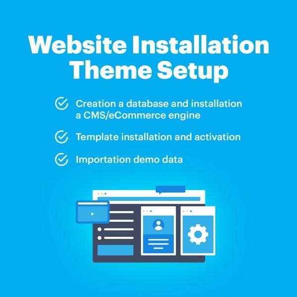 Website Installation - Theme Setup