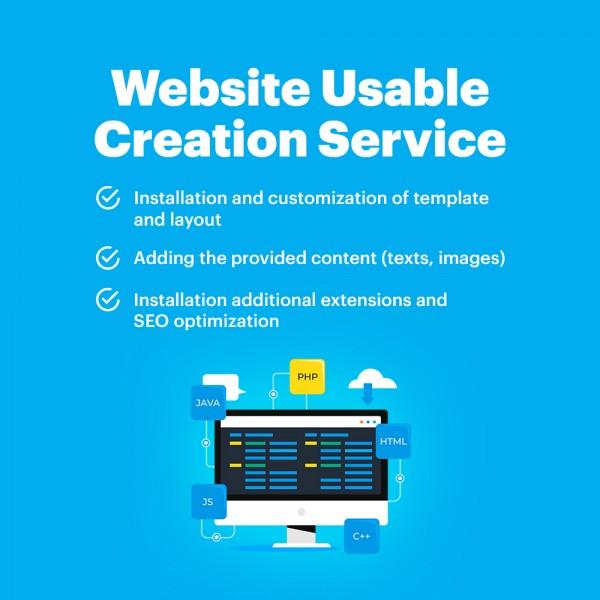Website Usable Creation Service